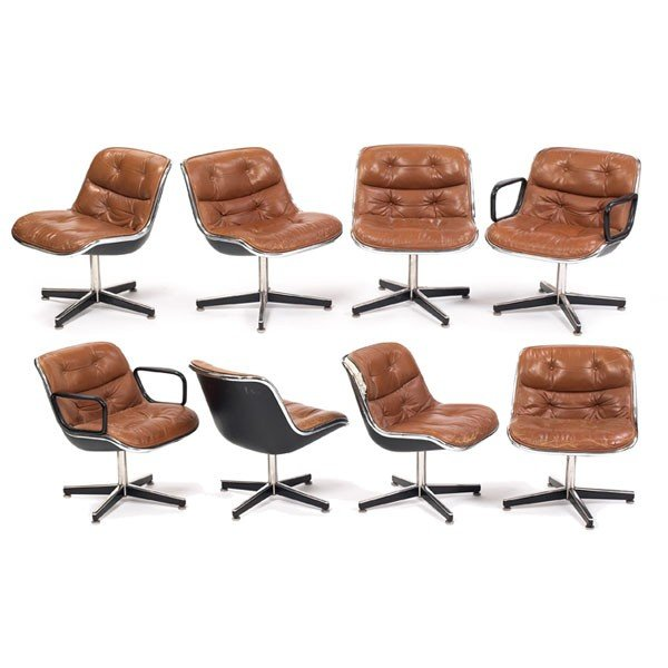 926: Charles Pollock office chairs, set of 8, by Knoll : Lot 926