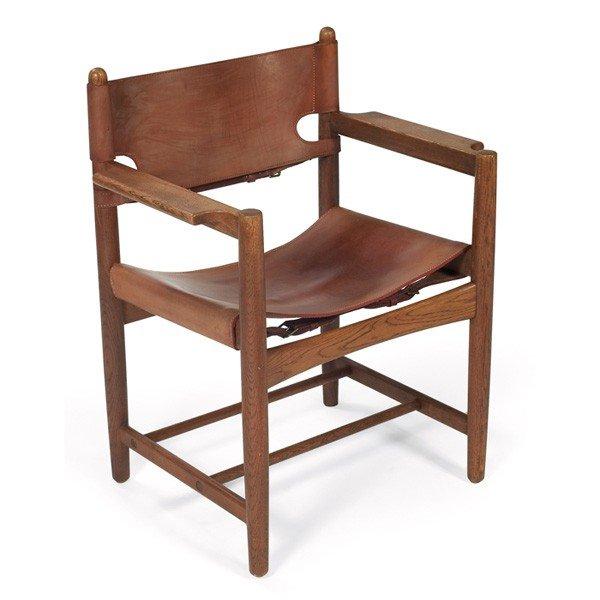 982 Borge Mogensen Safari chair Lot 982