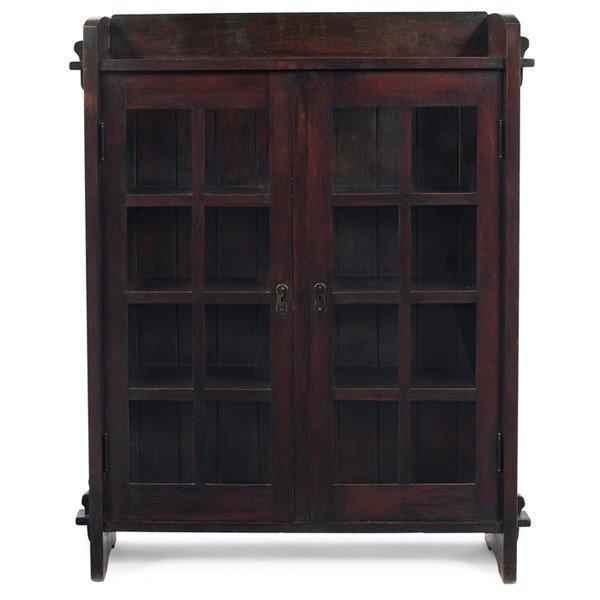 165 Gustav Stickley Bookcase 525 Two Doors Lot 165