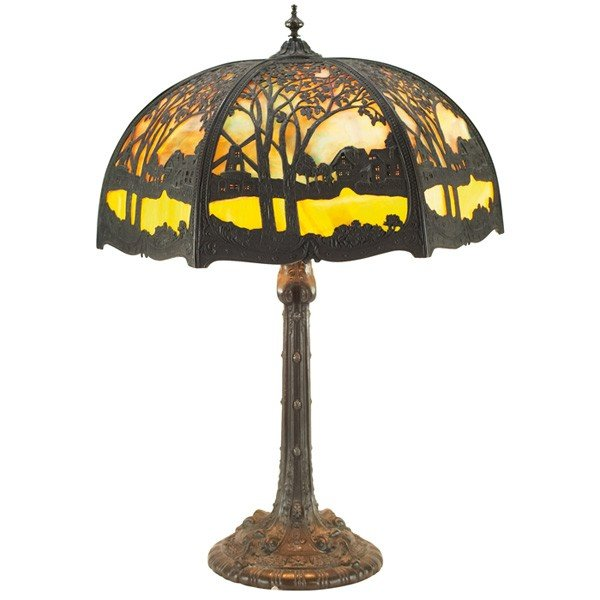 200 Wilkinson Lamp Six Sided Slag Glass Lot 200