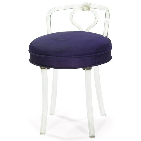 950 1940s vanity chair stool reflectone corp lucite lot 950 - Acrylic vanity chair ...