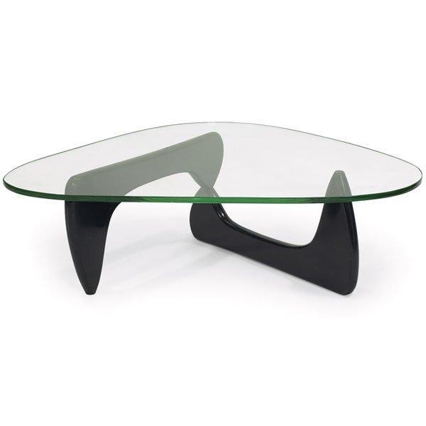 806 early isamu noguchi coffee table black base glass lot 806 - Isamu noguchi table basse ...