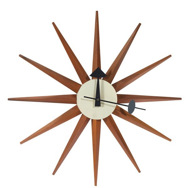 George nelson spike sunburst wall clock howard miller for Nelson wall clock