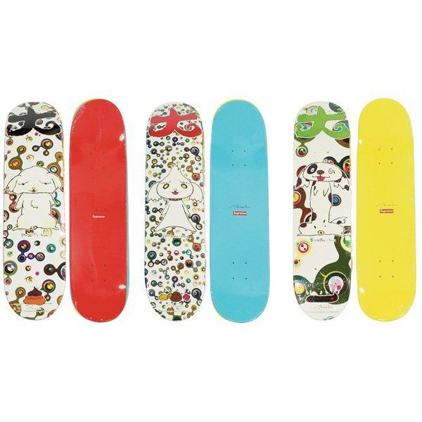 Takashi Murakami Skateboard Decks Three Supreme Lot 735
