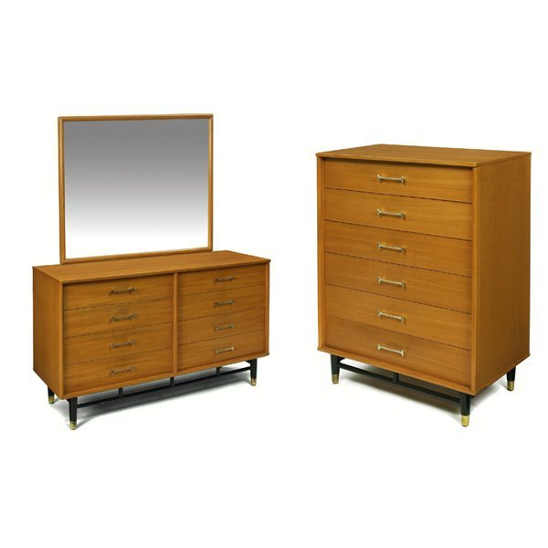 1073 drexel bedroom set 1950s elm lot 1073