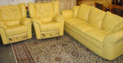 Yellow Leather Sofa Loveseat U0026 Google Search