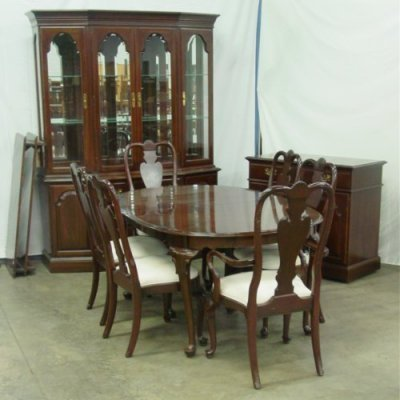 1925a Ethan Allen Queen Anne Dining Room Set Lot
