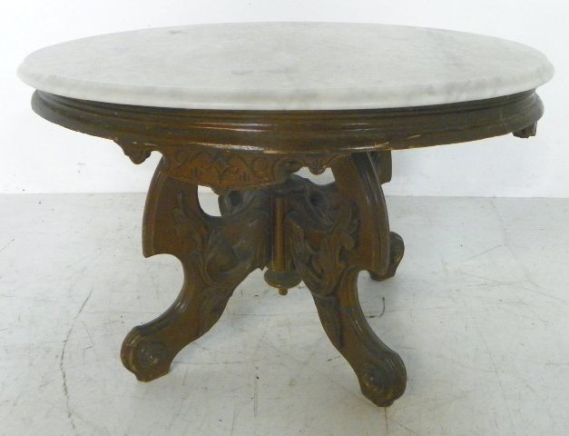 226 Victorian Marble Top Coffee Table Lot 226