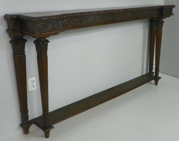 421 Unusual Mahogany Narrow Console Table Lot 421