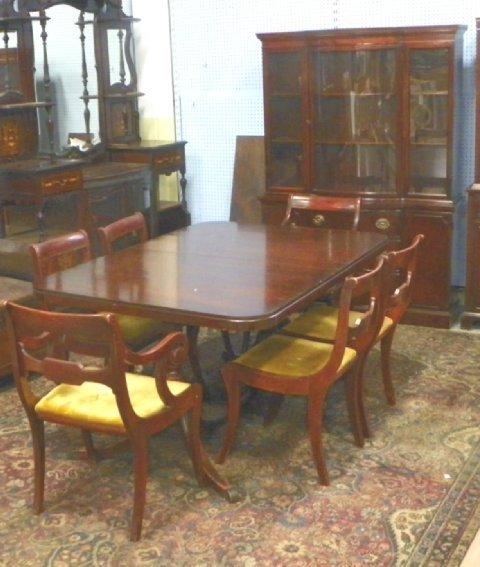 2132 drexel mahogany dining room set ca 1930 39 s lot 2132