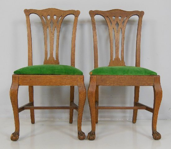 2 oak ball amp claw foot dining room chairs Lot 97 : 156909411l from liveauctioneers.com size 550 x 480 jpeg 41kB