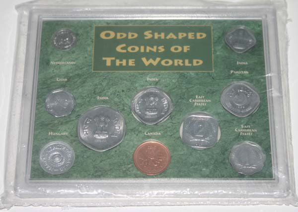 odd shaped foreign coins