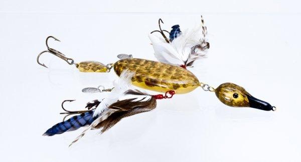 1549 folk art injured duck lure lot 1549 for Duck fishing lure