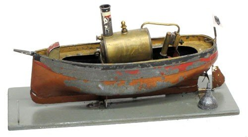 421: ERNEST PLANK STEAM TOY BOAT : Lot 421