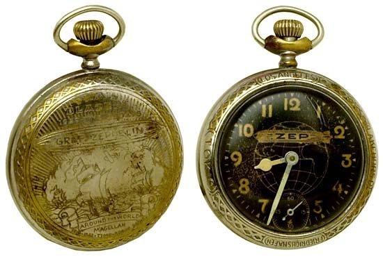 Circa 1929 Graf Zeppelin Commemorative Pocket Watch - EBTH