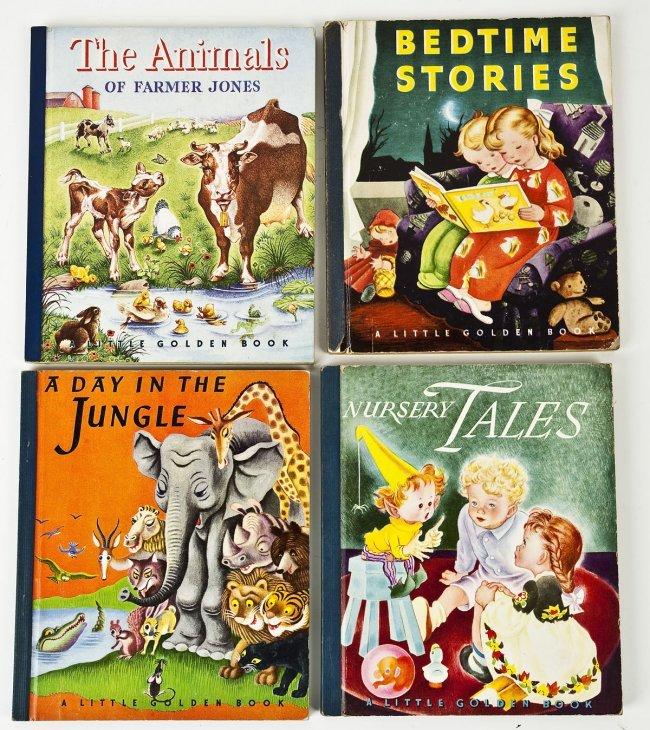 (4) Early Little Golden Books #212-25 #213-25 -#488 - # 338