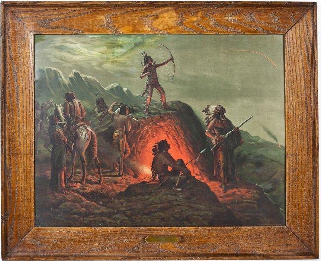 1904 Taber Prang Indian Print Burning Arrow Lot 54