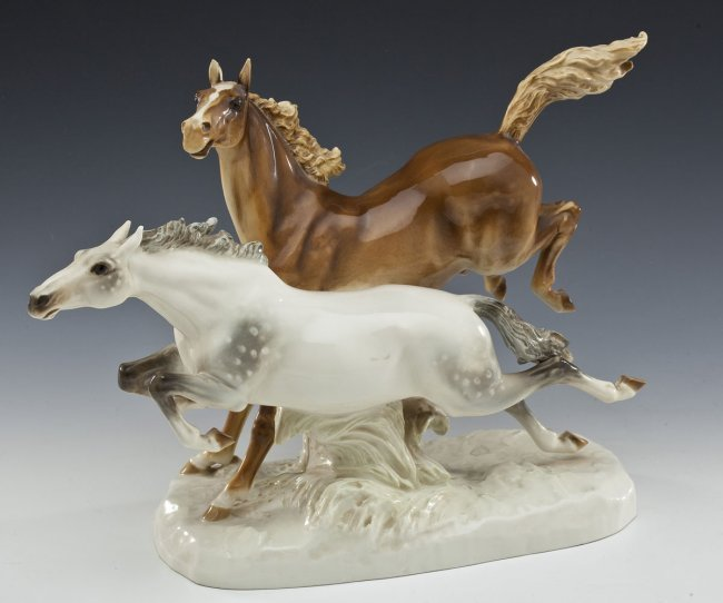 hutschenreuther galloping horse porcelain figurine lot 604