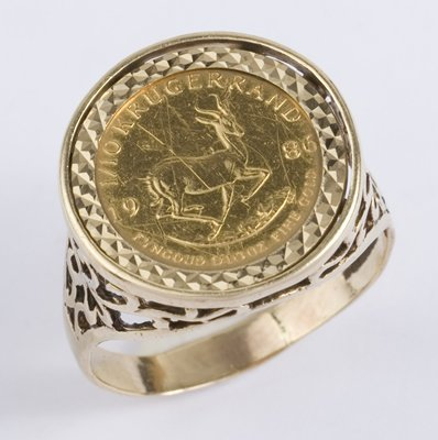 Krugerrand Coin Ring