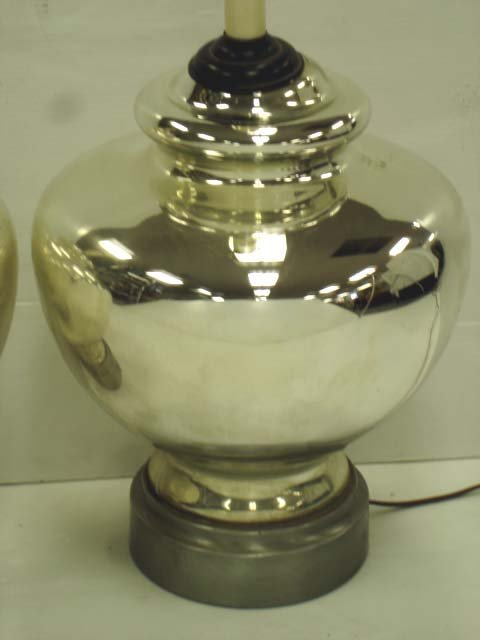 pair of classical mercury glass lamps - Mercury Glass Lamps
