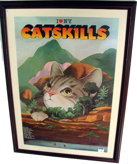 510: MILTON GLASER 1985 CATSKILL NY POSTER - 36 X 24 : Lot 510