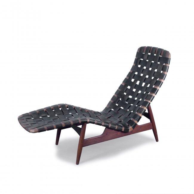 Arne vodder chaise longue c1950 h 92 x 58 x 146 cm for Chaise longue 200 cm