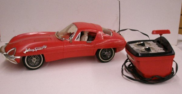 2128: 1966 Topper Toys Johnny Speed Jaguar : Lot 2128