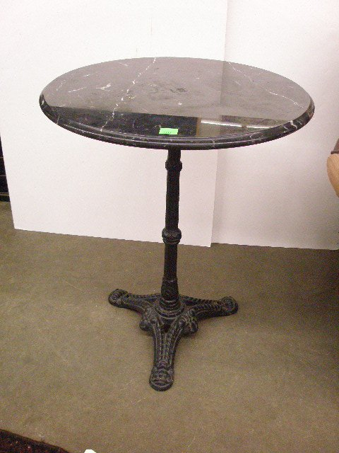 1317 Victorian Cafe Table With Black Marble Top Lot 1317