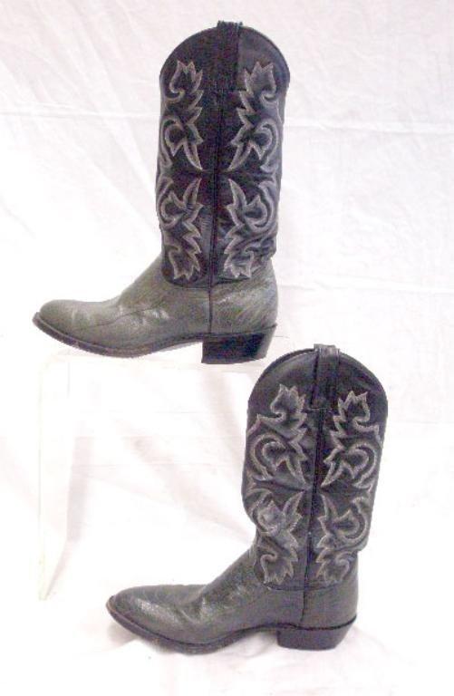 1221 j chisholm leather alligator cowboy boots lot 1221