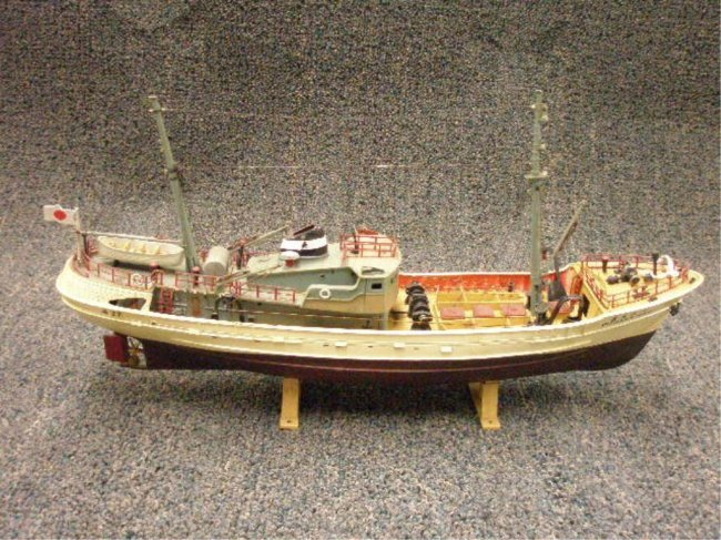 59 vintage japanese fishing boat model lot 59 for Japanese fishing boat