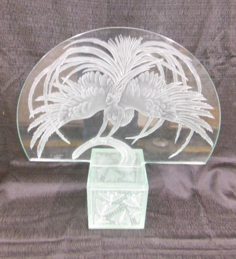 lalique oiseau de feu firebird plaque lot 245. Black Bedroom Furniture Sets. Home Design Ideas