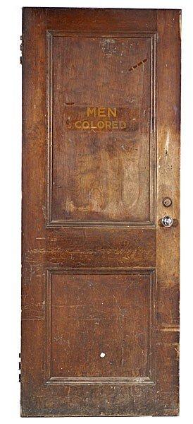 163 Segregation Restroom Doors From Richmond Virginia Lot 163