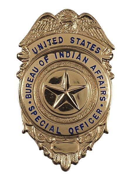 243 u s bureau of indian affairs badge lot 243