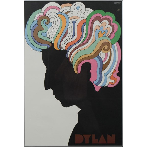 302: Milton Glaser (American, 1929), Bob Dylan Poster ...