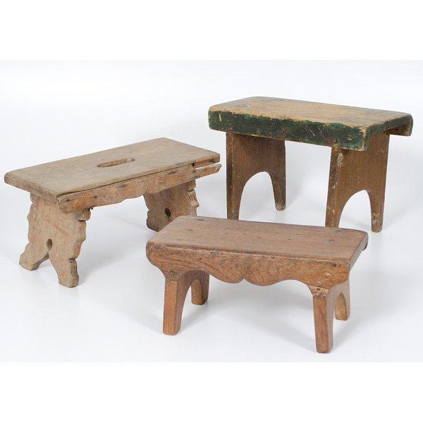 265 Wooden Stools Lot 265