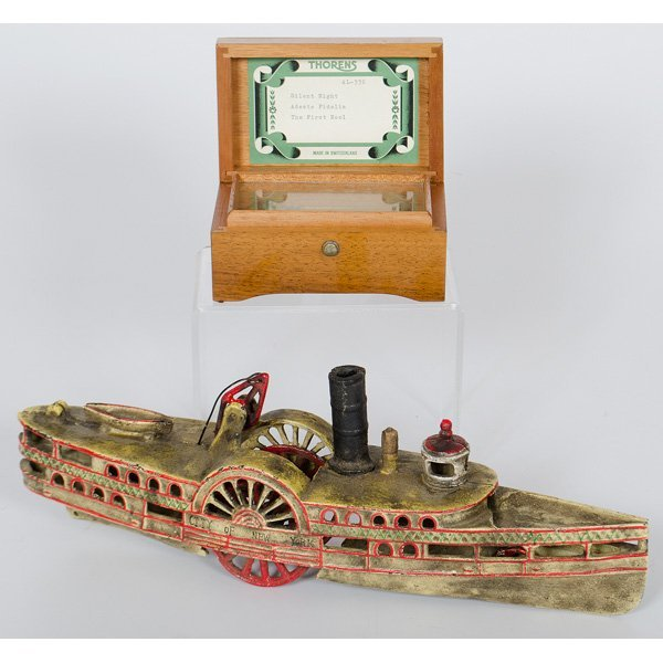 Cast Iron Toy Steam Boat, Plus : Lot 703