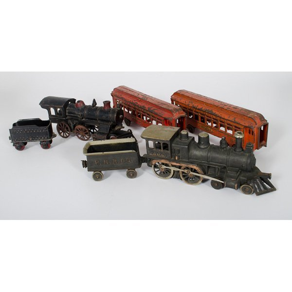 Nycrr Cast Iron Train: Hubley Cast Iron Train Set, Plus : Lot 793