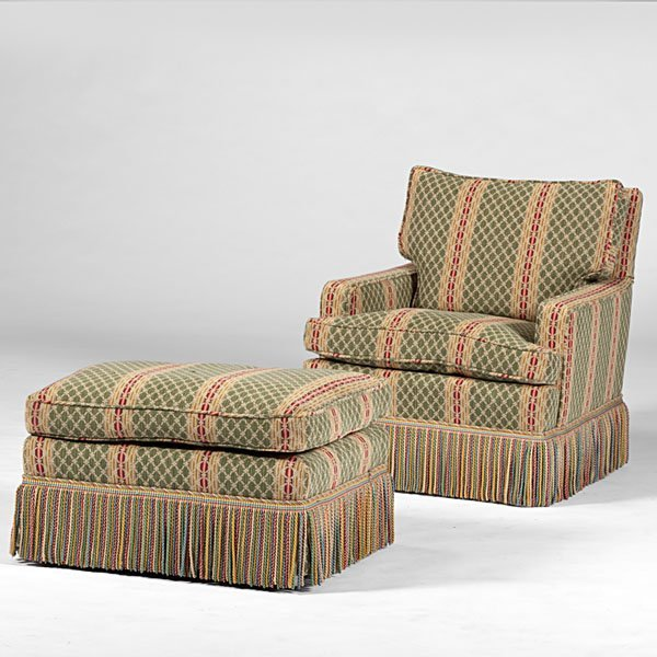 Overstuffed chair with ottoman 1000 images about for Overstuffed armchair
