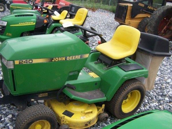 John Deere 240 Lawn Tractor : John deere lawn and garden tractor w bagger