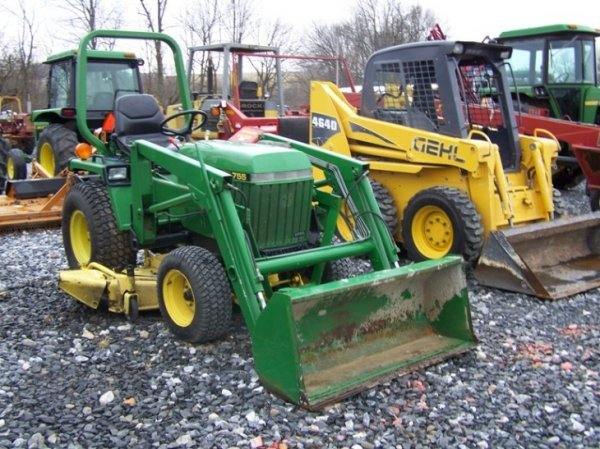 250 john deere 755 4x4 compact tractor loader lot 250. Black Bedroom Furniture Sets. Home Design Ideas