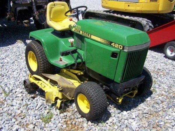 201 John Deere 420 Lawn And Garden Tractor 60 Deck Lot 201