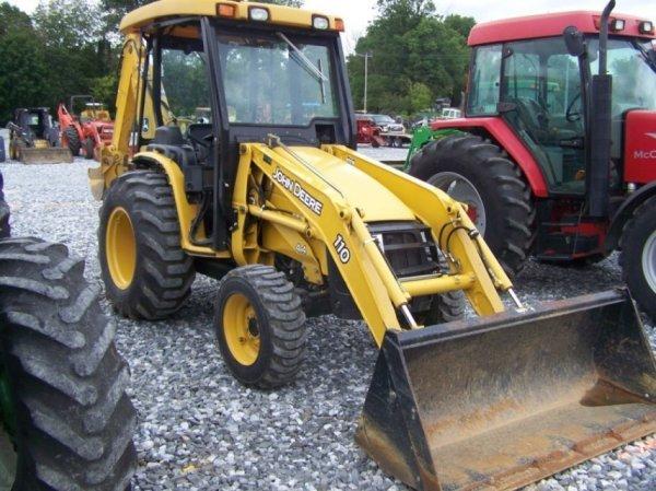 John Deere 110 Backhoe : John deere tractor loader backhoe nice