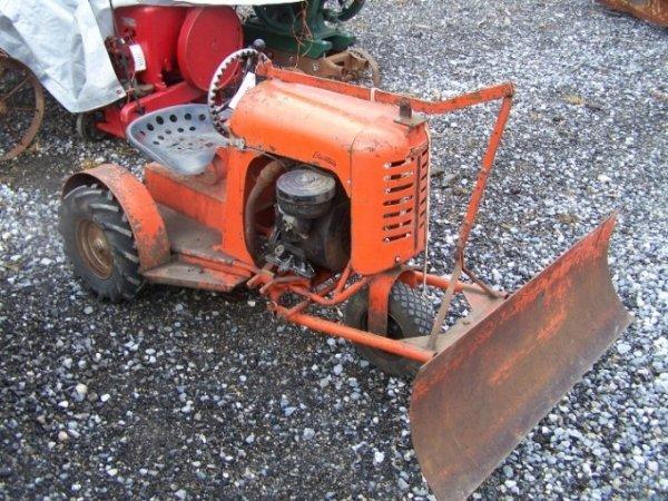 2139 Bantam Antique Lawn Garden Tractor With Blade Lot 2139