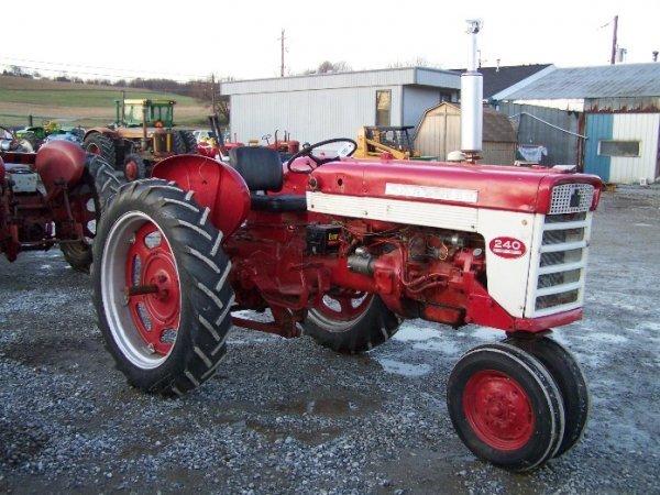 International 240 Tractor : A international farmall narrow front tractor