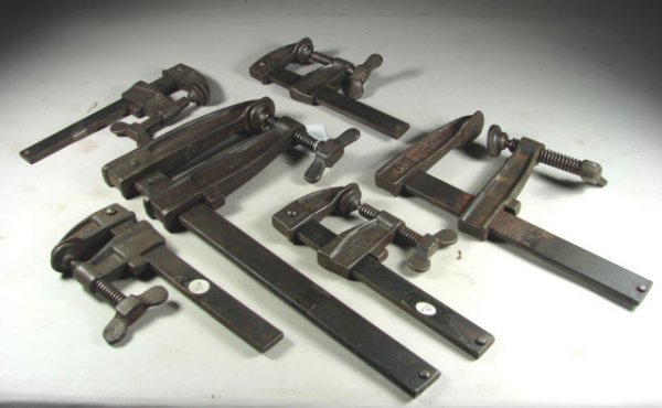 700: Six Hartford Clamp Co. Adjustable Clamps : Lot 700