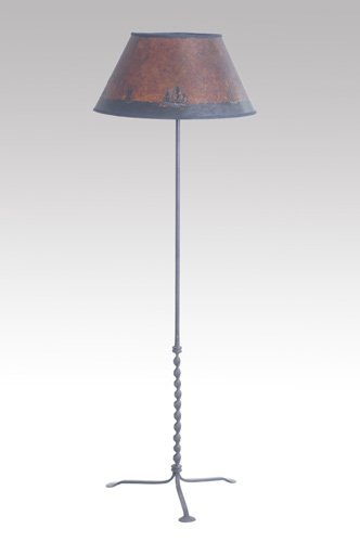 134: Samuel Yellin Wrought Iron Floor Lamp With Twisted : Lot 134
