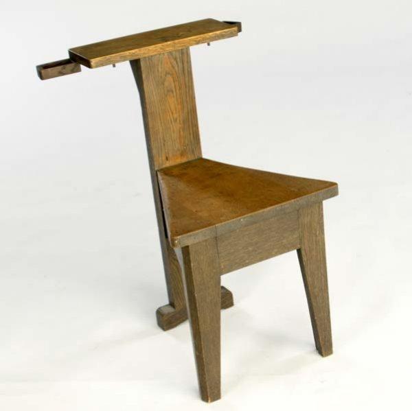 625: CHARLES ROHLFS Meditation Chair With Triangular Se