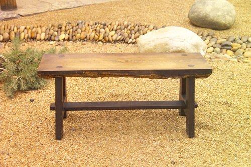 84 Roycroft Ali Baba Bench With A Half Log Mounted On Lot 84