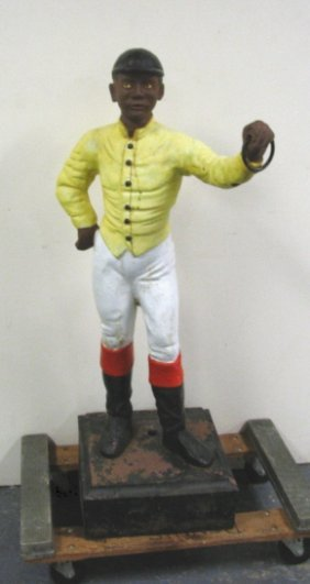 1069 Mckittrick Foundry Co Cast Iron Lawn Jockey Lot 1069