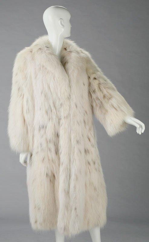 273: A Galanos Russian lynx belly fur coat,